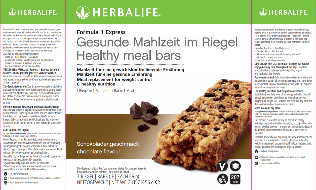 Nutritional Information Herbalife Express Bars Chocolate
