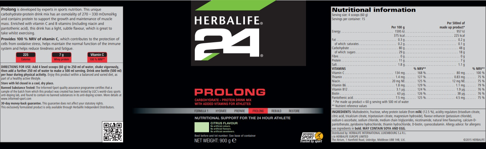 Nutritional Information Herbalife Prolong