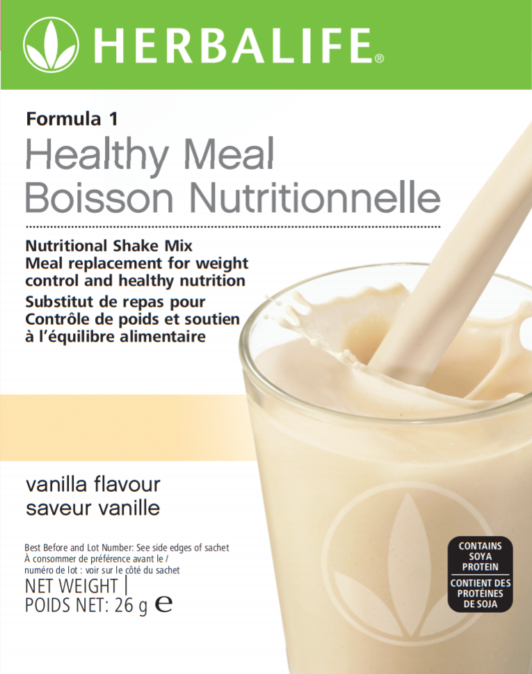 Nutritional Information Herbalife Formula 1 Sachets