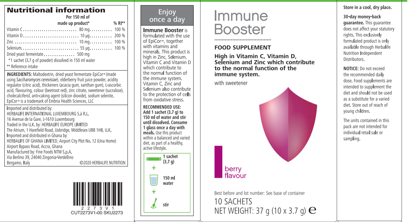 Herbalife Immune Booster Label