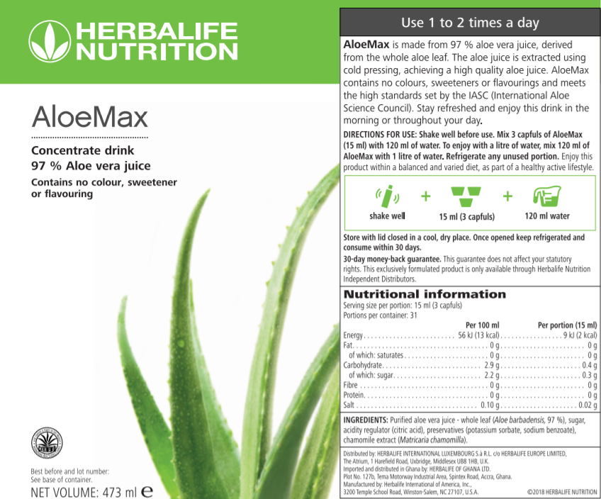 Nutritional Information Herbalife Aloe Max